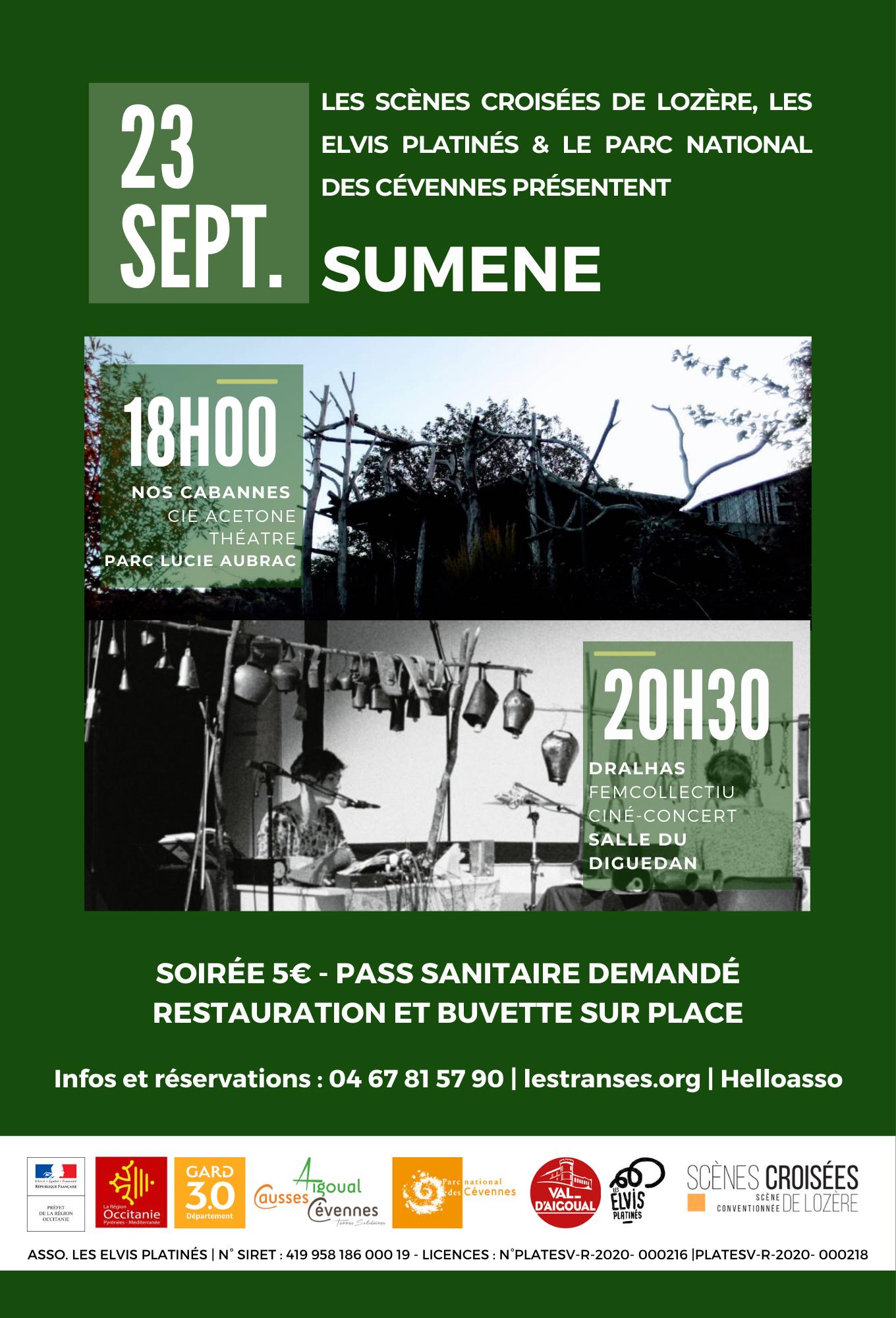 Soirée spectacle et ciné-concert à Sumène
